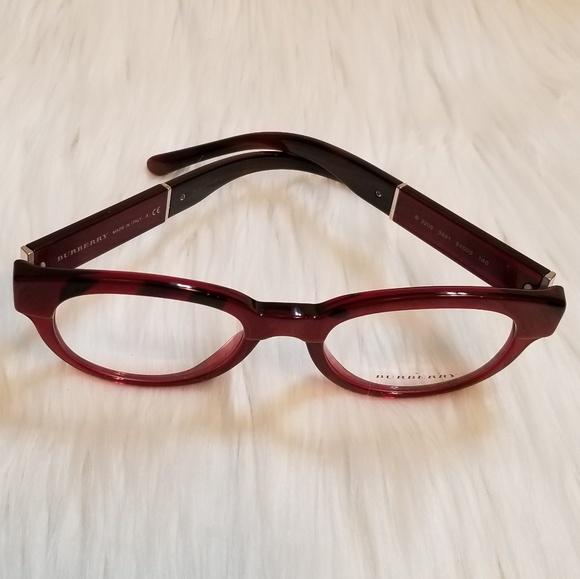 b25dc34eae9e Burberry Rx Eyeglass Burgundy Top Optical Frame